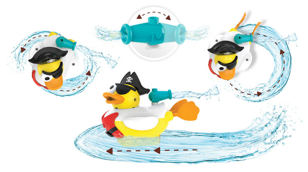 Jet Duck Pirate - Educational Bath Toy By Yookidoo1