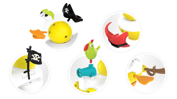 Jet Duck Pirate - Educational Bath Toy By Yookidoo3