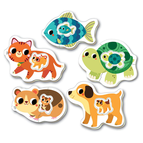 5 Baby Puzzles - Small Animals By Educa - BloxxToys Canada