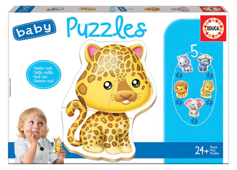 5 Baby Puzzles - Wild Animals Refresh By EDUCA - BloxxToys