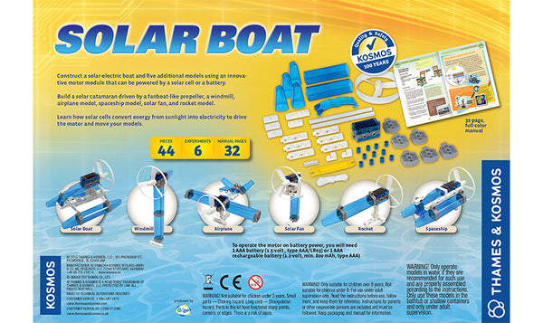 Solar Boat - Bloxx Toys - Toronto Online Toys Store - 3
