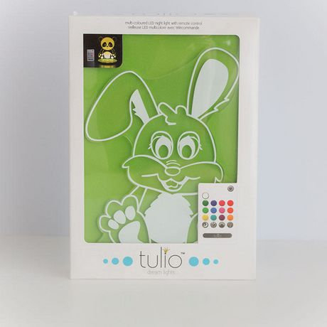 Rabbit Night Light Multi Coloured LED Night Light By Tulio