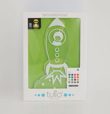 Rocket Ship Night Light Multi Coloured LED Night Light By Tulio
