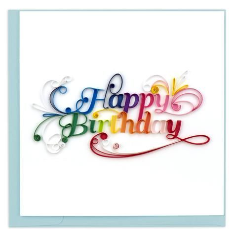 Happy Birthday Greeting Card By Quilling Card,BD123,Bloxx Toys,Quilling Cards