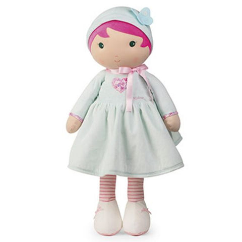 AZURE Tendresse Soft XL light blue and pink Doll Toy -By Kaloo Toronto