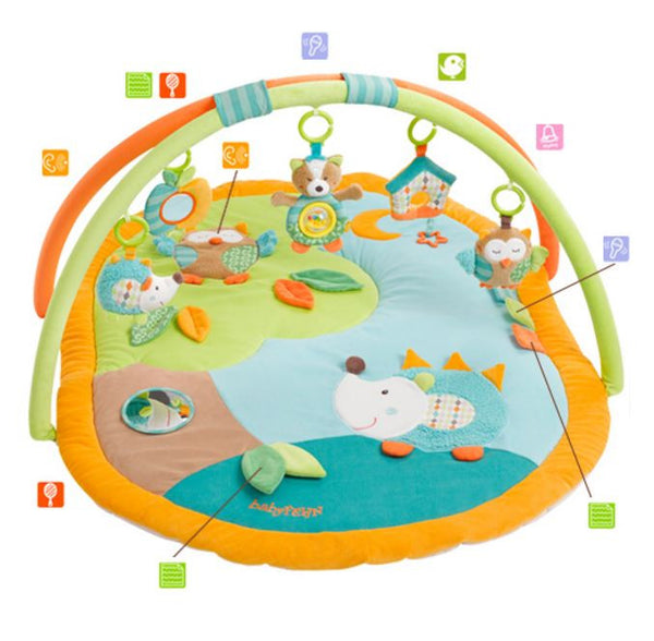 Activity Playmat Forest Learning Carpet with 5 removable toys By Fehn - Bloxx Toys - Toronto Online Toys Store - Canada