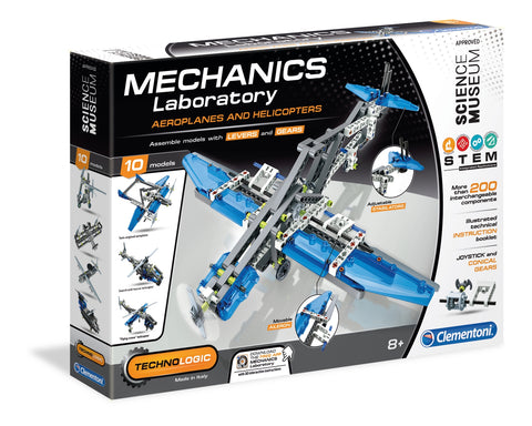 Airplanes and Helicopters Mechanics Laboratory Bilingual By Clementoni -Bloxx Toys-Toronto toys, toy,Autism Toys, Ontario toys, Quebec toys, Children Toys,Kids Toys,Educational toys, Online Toys Store Canada