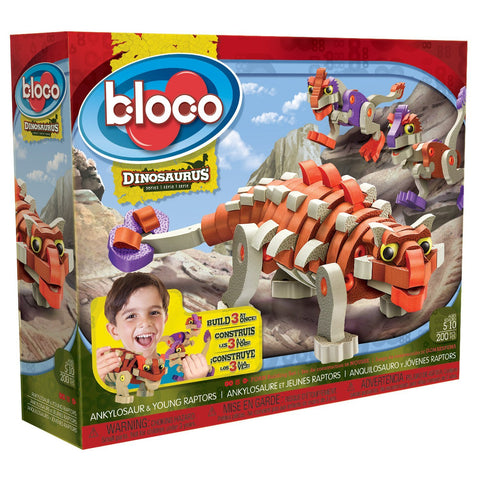 Ankylosaur & Young Raptors Foam Blocks By Bloco - Bloxx Toys - Toronto Online Toys Store - 1