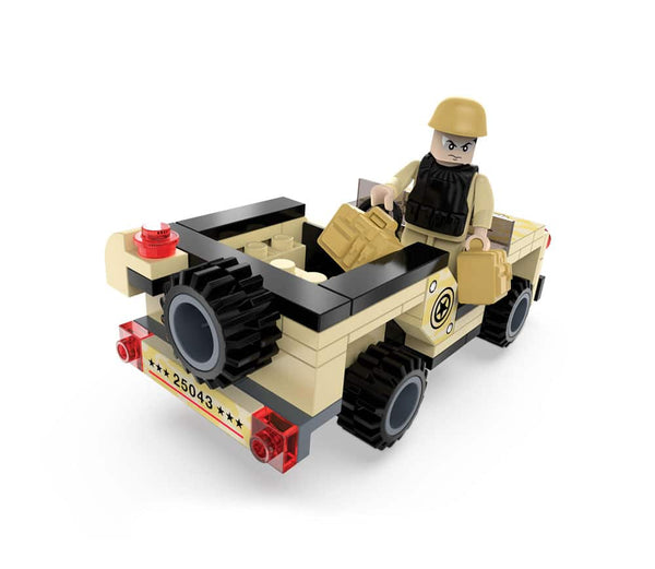 Army Truck By Brictek - Bloxx Toys - Toronto, Montreal, Vancouver, Kids, Building Toys, Shopping online, Ontario, Quebec, - Educational Online Toys Store Canada