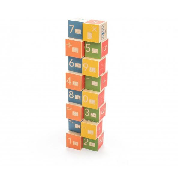 Uncle Goose Braille Math Blocks - Bloxx Toys - Toronto Online Toys Store - 2