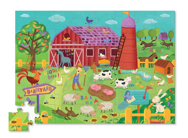 Barnyard Banter Puzzle-48 piece By Crocodile Creek - Bloxx Toys - Toronto Online Toys Store - 2