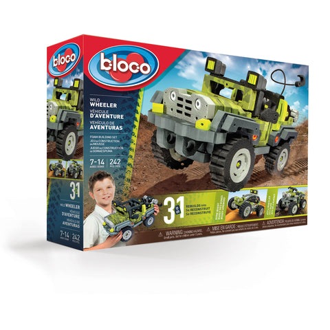 Bloco Wild Wheeler 3 in 1 Jeep, ATV, and Dune Buggy Building Kit Toy