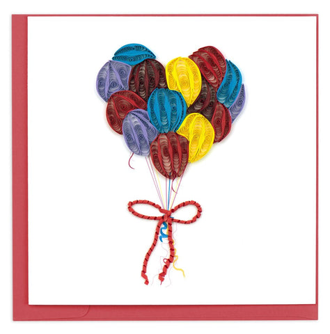 Balloons - Happy Birthday Greeting Card By Quilling Card