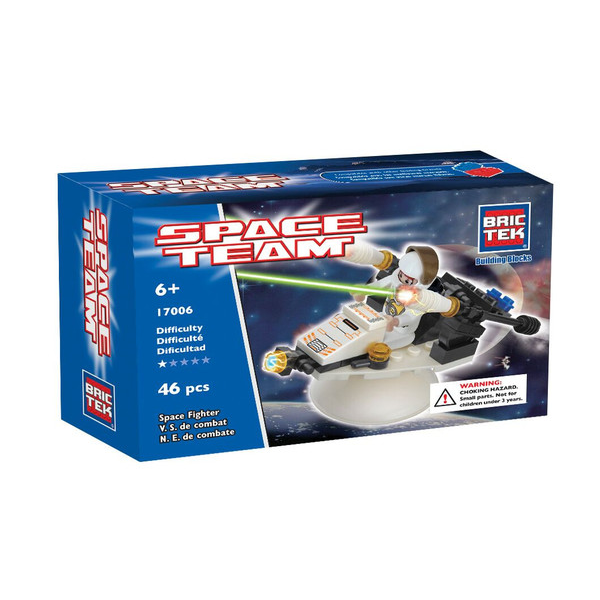 BRICTEK-SPACE FIGHTER WITH ROTATING STAND - Bloxx Toys - Toronto Online Toys Store - 1