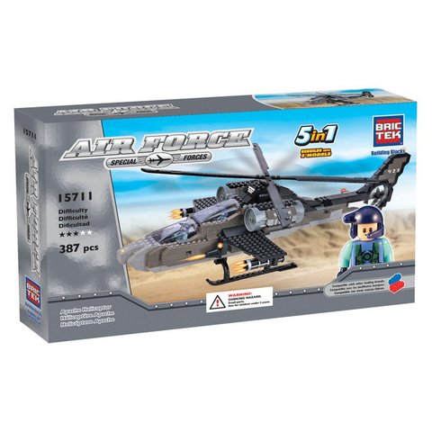 AIR FORCE APACHE HELICOPTER 5 IN 1 By BricTek - Bloxx Toys - Toronto Online Toys Store - 1
