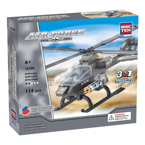 BRICTEK ATTACK HELICOPTER 3 IN 1 - Bloxx Toys - Toronto Online Toys Store - 1