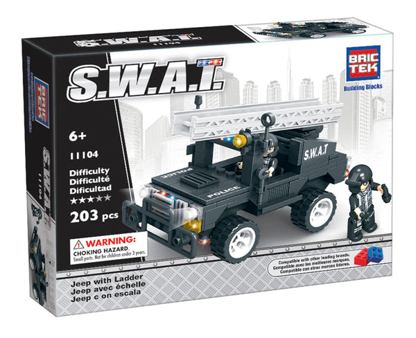 BRICTEK SWAT JEEP WITH LADDER - Bloxx Toys - Toronto Online Toys Store - 1