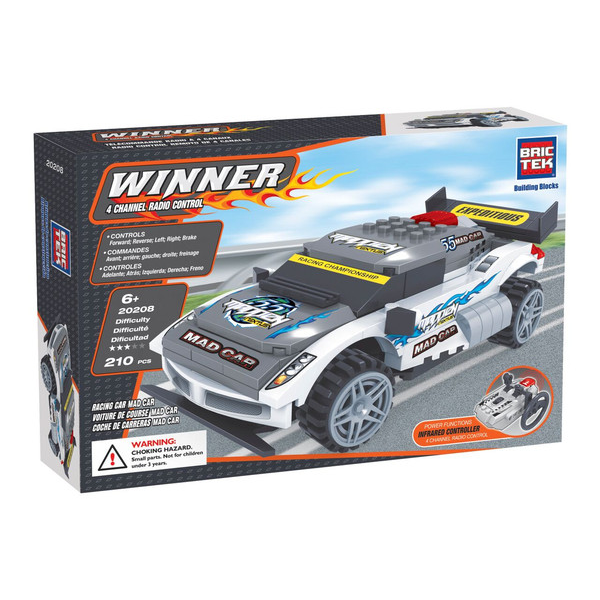 Radio Controlled Building Blocks Racing Car Mad-Car By BricTek - Bloxx Toys - Toronto Online Toys Store - 1