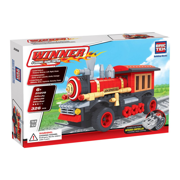 BRICTEK  RADIO CONTROLLED BUILDING BLOCKS TRAIN - Bloxx Toys - Toronto Online Toys Store - 1