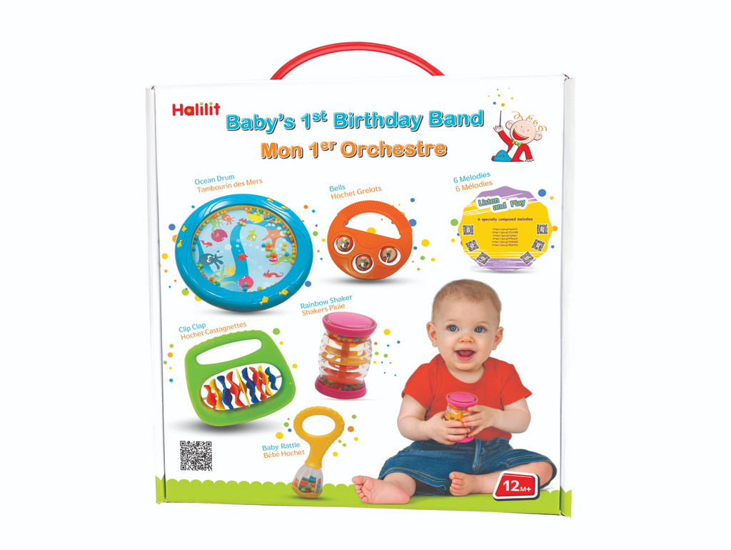 Baby's 1st Birthday Band Educational Musical Toys Set for Babies By Halilit