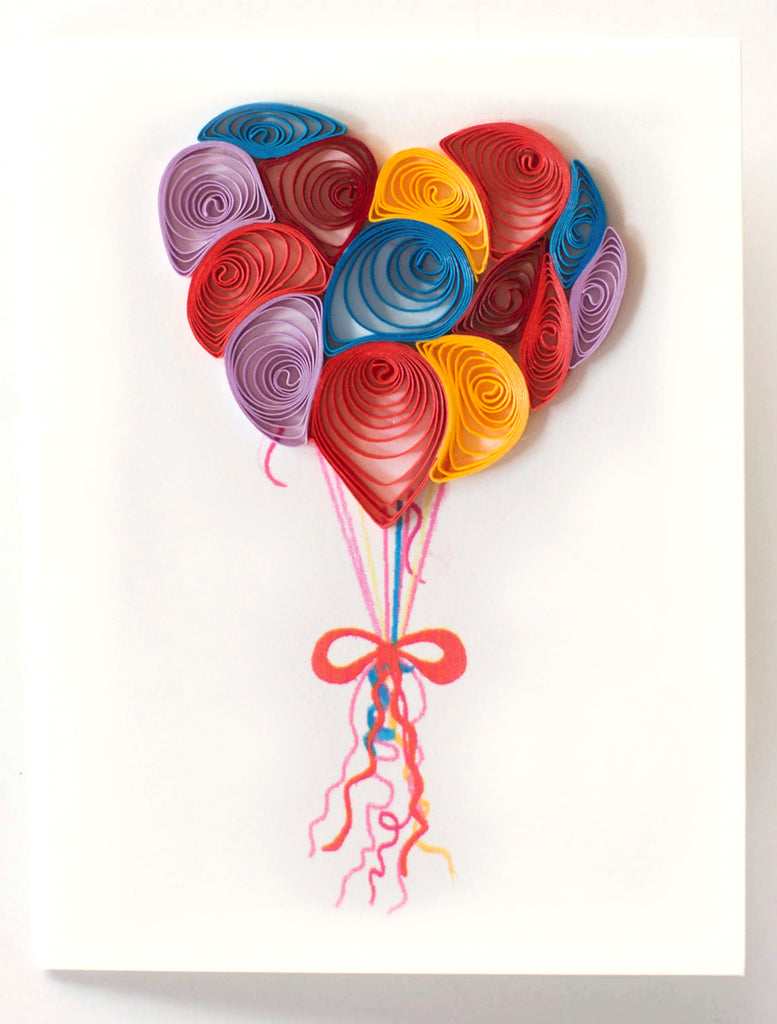 Balloon Happy Birthday Greeting Card By Quilling Card - Bloxx Toys - Toronto - Educational Online Toys Store Canada