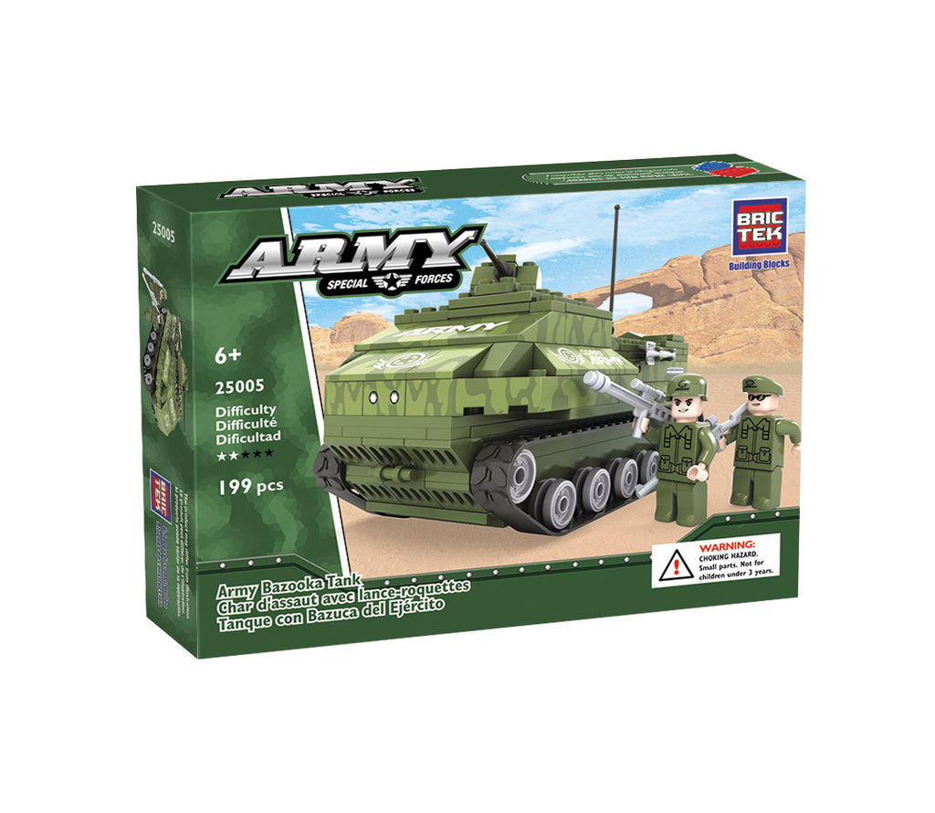 Bazooka Tank by Brictek - Bloxx Toys - Toronto, Montreal, Vancouver, Kids, Building Toys, Shopping online, Ontario, Quebec, - Educational Online Toys Store Canada