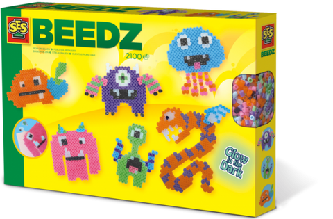 Beedz-Iron on beads glow in the dark monsters kid friendly and educational toy