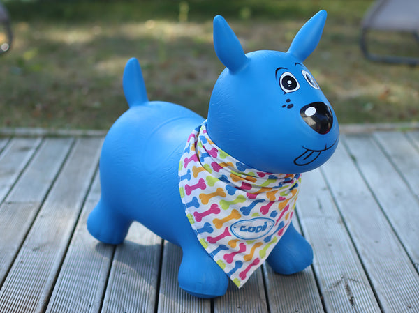 Blue Bouncing Dog By LUDI  Toys Canada  BloxxToys