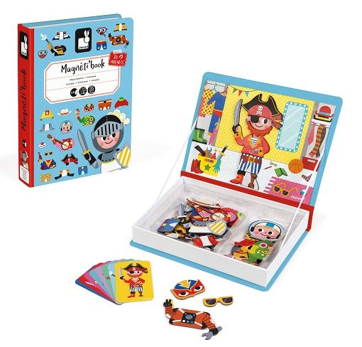 Boy Costumes Magnetic Book By Janod - Bloxx Toys - Toronto - Educational Online Toys Store Canada