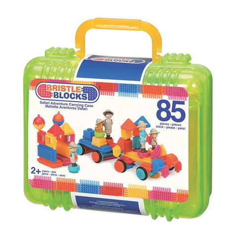Bristle Blocks - Safari Adventure Case 85 pieces By Battat - Bloxx Toys - Toronto, Montreal, Vancouver, Kids, Building Toys, Shopping online, Ontario, Quebec, - Educational Online Toys Store Canada