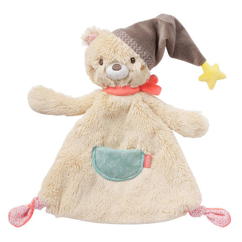 Bruno Bear Baby Sleep Comforter Toy with rattle By Fehn
