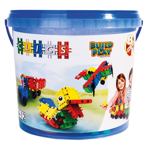 Bucket 8 in 1-160/pcs Bucket Building Blocks By Clics - Bloxx Toys - Toronto Online Toys Store - 1