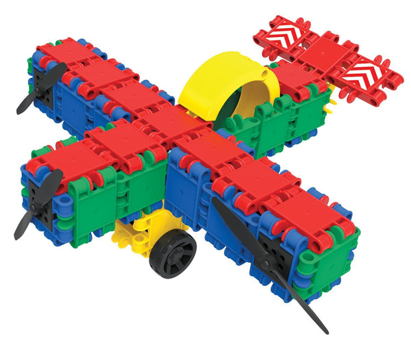 Bucket 8 in 1-160/pcs Bucket Building Blocks By Clics - Bloxx Toys - Toronto Online Toys Store - 6