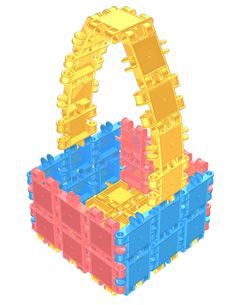 Junior Bucket Building Blocks Set 10 in 1 by Clics - Bloxx Toys - Toronto Online Toys Store - 4