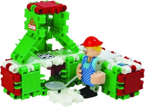 Cook with Kitchen Building Blocks Set By Clics - Bloxx Toys - Toronto Online Toys Store - 3
