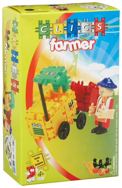 Farmer Building Blocks Set By Clics - Bloxx Toys - Toronto Online Toys Store - 2