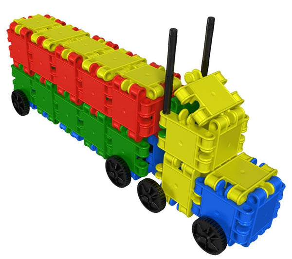Funny Wheelers Building Blocks Set By Clics - Bloxx Toys - Toronto Online Toys Store - 4