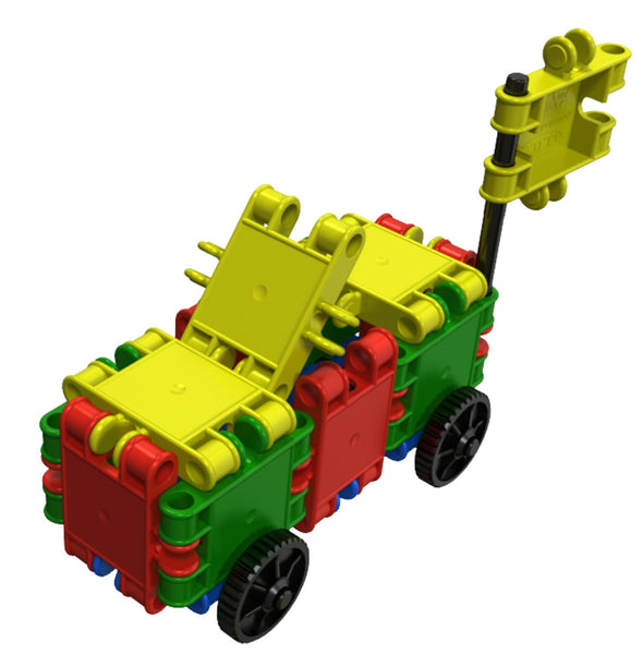 Funny Wheelers Building Blocks Set By Clics - Bloxx Toys - Toronto Online Toys Store - 9
