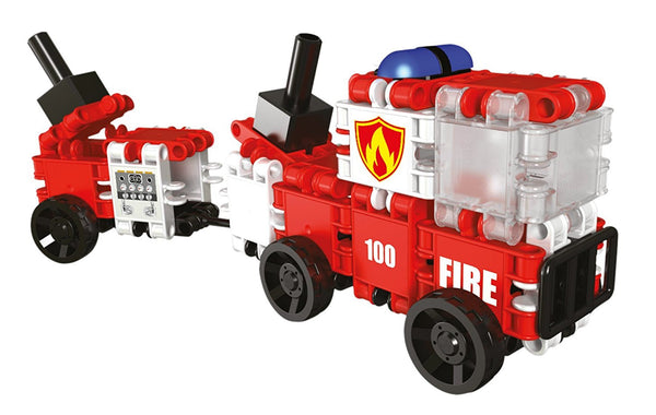 Squad Hero Fire Brigade 8 in 1 Building Blocks Set By Clics - Bloxx Toys - Toronto Online Toys Store - 7