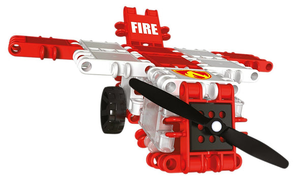 Squad Hero Fire Brigade 8 in 1 Building Blocks Set By Clics - Bloxx Toys - Toronto Online Toys Store - 5