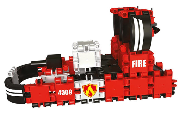 Squad Hero Fire Brigade 8 in 1 Building Blocks Set By Clics - Bloxx Toys - Toronto Online Toys Store - 9