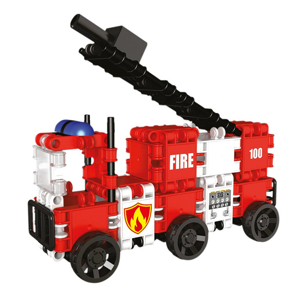 Squad Hero Fire Brigade 8 in 1 Building Blocks Set By Clics - Bloxx Toys - Toronto Online Toys Store - 6