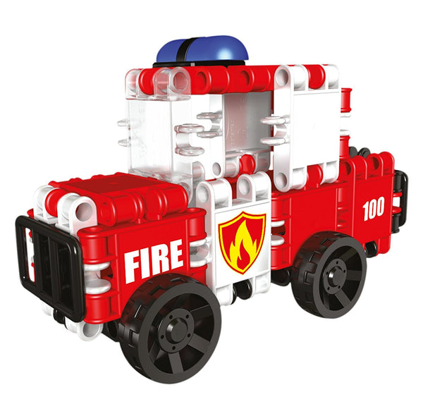 Squad Hero Fire Brigade 8 in 1 Building Blocks Set By Clics - Bloxx Toys - Toronto Online Toys Store - 3