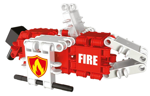 Squad Hero Fire Brigade 8 in 1 Building Blocks Set By Clics - Bloxx Toys - Toronto Online Toys Store - 8