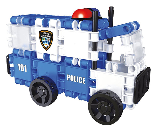Hero Squad Police Building Blocks Set By Clics #BC001 - Bloxx Toys - Toronto Online Toys Store - 5