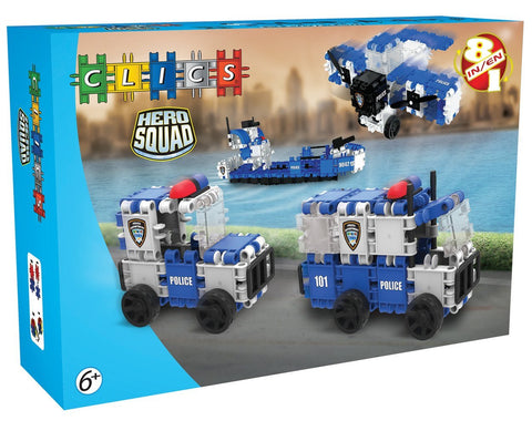 Hero Squad Police Building Blocks Set By Clics #BC001 - Bloxx Toys - Toronto Online Toys Store - 1