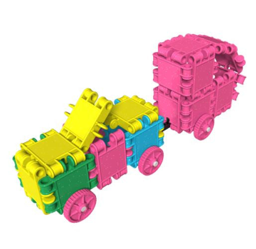 Roller Box-Glitter 10 in 1 Building Blocks Set By Clics - Bloxx Toys - Toronto Online Toys Store - 11