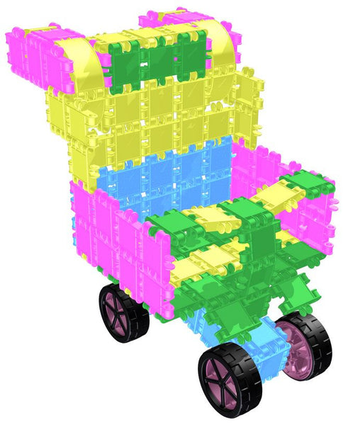 Roller Box-Glitter 10 in 1 Building Blocks Set By Clics - Bloxx Toys - Toronto Online Toys Store - 12