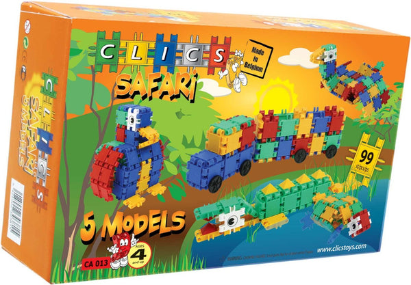 Safari Building Blocks Set By Clics - Bloxx Toys - Toronto Online Toys Store - 8