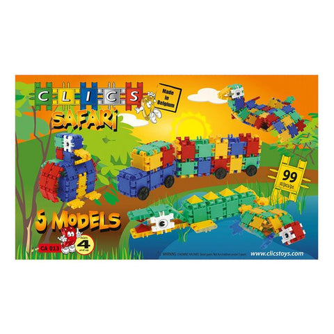 Safari Building Blocks Set By Clics - Bloxx Toys - Toronto Online Toys Store - 1